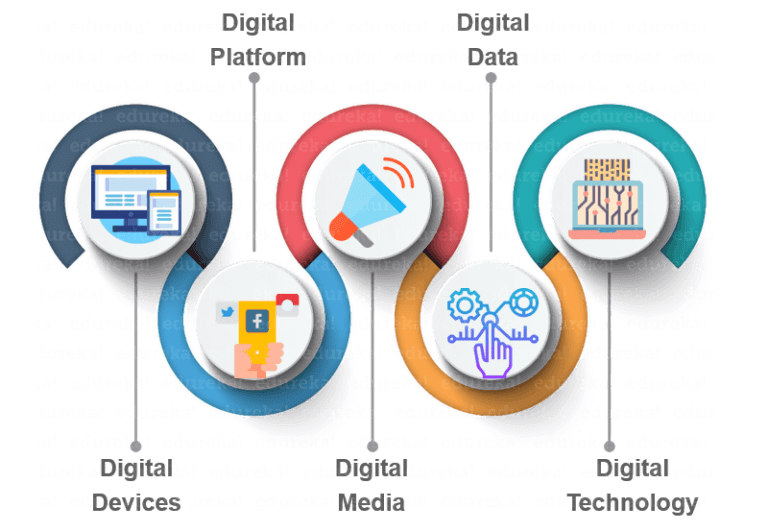 The  Infographics of 5 Ds of Digital Marketing